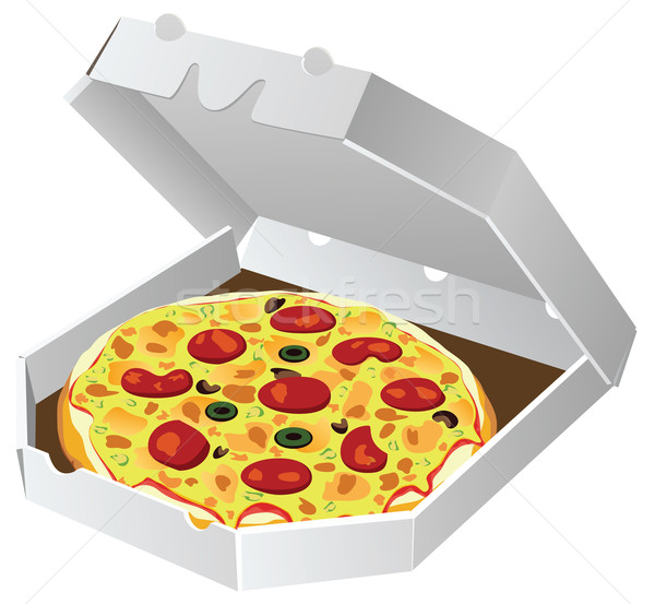 Vector italiano pizza papel cuadro restaurante Foto stock © freesoulproduction