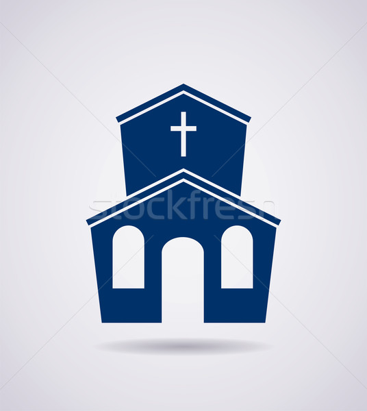 vector symbol or icon of church building Stock photo © freesoulproduction