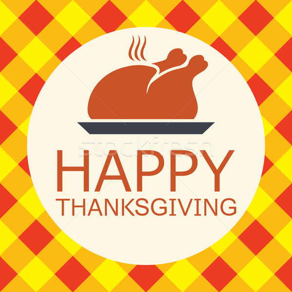 vector cooked turkey for happy thanksgiving day card Stock photo © freesoulproduction
