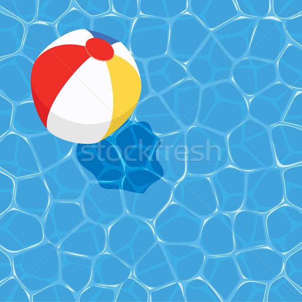 Vektor nyár labda lebeg víz sport Stock fotó © freesoulproduction