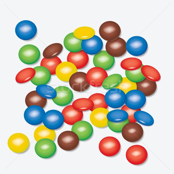 Foto stock: Vetor · colorido · festa · aniversário · fruto