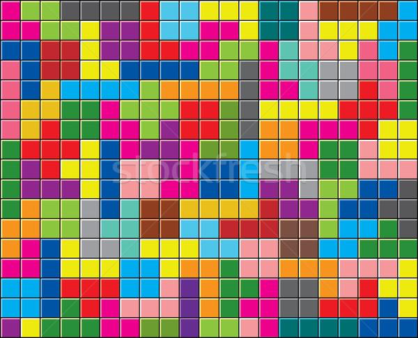 Stok fotoğraf: Vektör · renkli · puzzle · parçaları · doku · dizayn · sanat