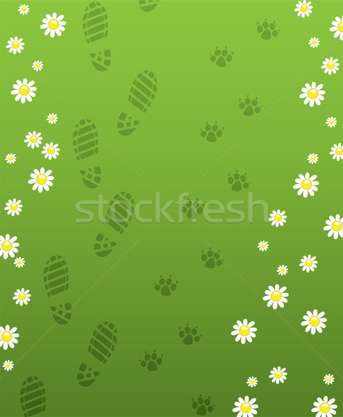 vector foot prints Stock photo © freesoulproduction
