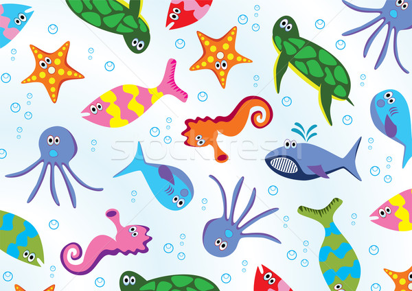 vector sea animals Stock photo © freesoulproduction