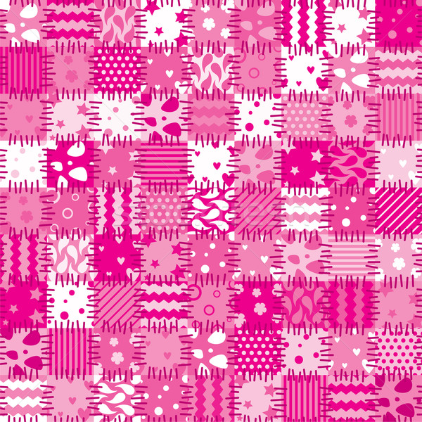 vector pink patchwork art background  Stock photo © freesoulproduction