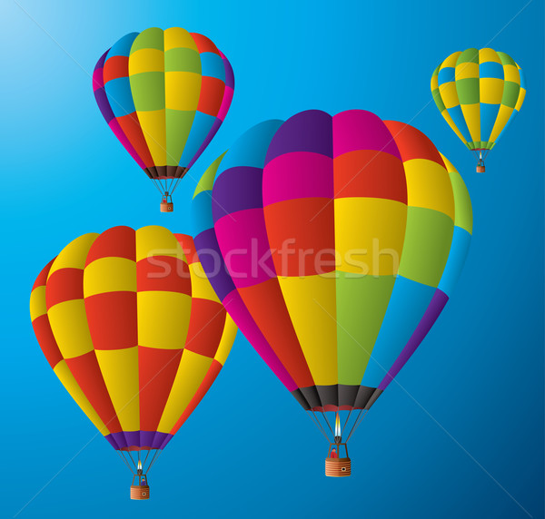 hot air balloons in the sky Stock photo © freesoulproduction