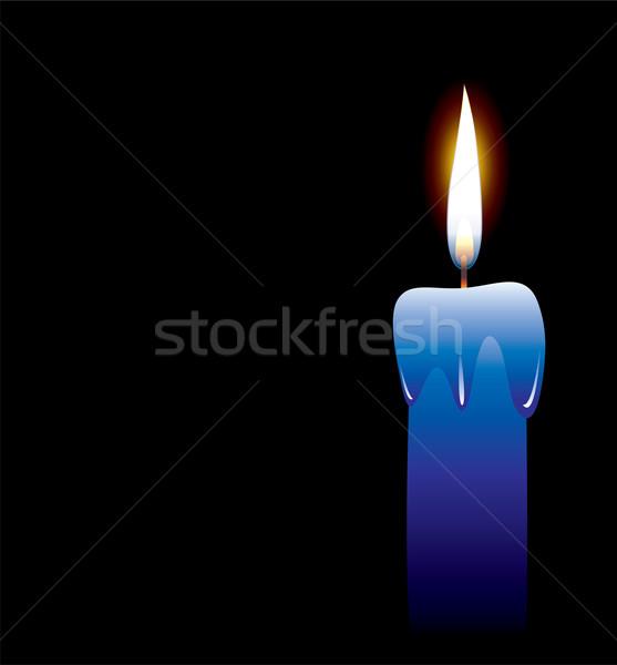 свечу вектора черный огня любви свет Сток-фото © freesoulproduction