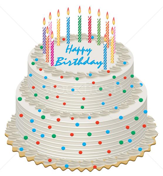 Stock photo: vector birthday cake