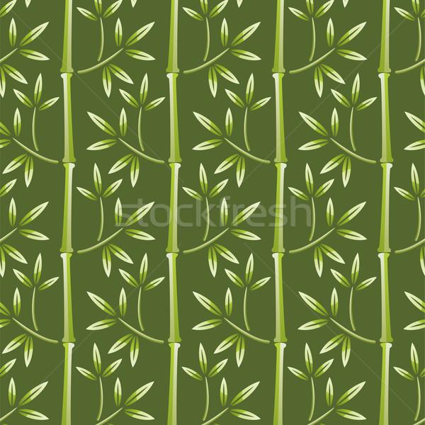 Zdjęcia stock: Wektora · bezszwowy · bambusa · tapety · drzewo · lasu