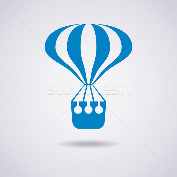 Stock photo: vector hot air balloon icon