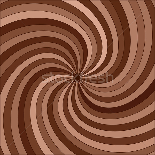 vector abstract background of chocolate swirl Stock photo © freesoulproduction