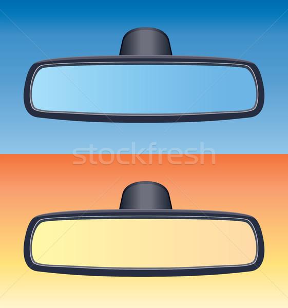 ベクトル セット 車 背面図 ガラス 青 ストックフォト © freesoulproduction