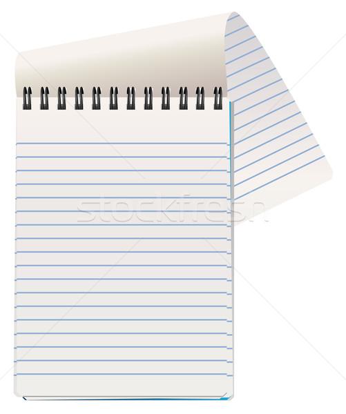 вектора блокнот бизнеса служба бумаги книга Сток-фото © freesoulproduction