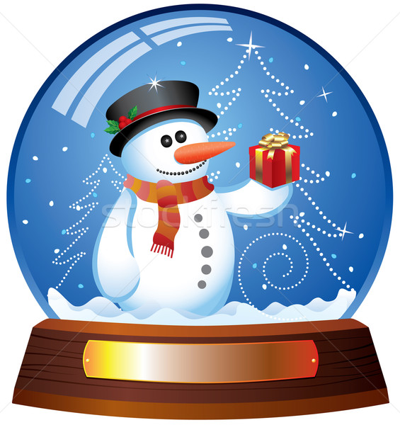 snow globe with snowman  Stock photo © freesoulproduction