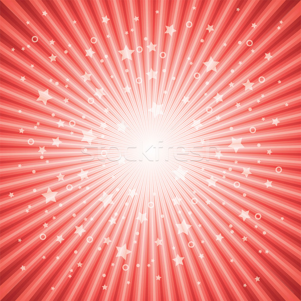 vector abstract background of red star burst Stock photo © freesoulproduction