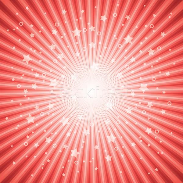 Vektor abstrakten rot Sterne Burst eps Stock foto © freesoulproduction