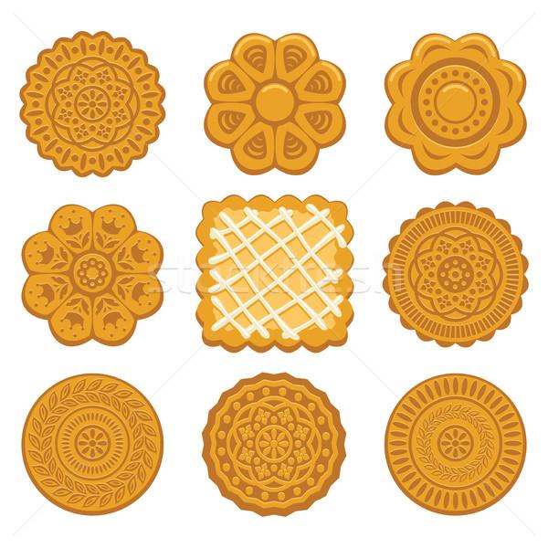 Vektor szett keksz chip sütik különböző Stock fotó © freesoulproduction