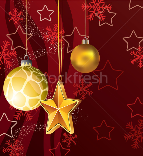 vector winter holiday decoration Stock photo © freesoulproduction
