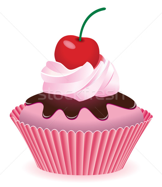 Vektor minitorta cseresznye étel otthon torta Stock fotó © freesoulproduction