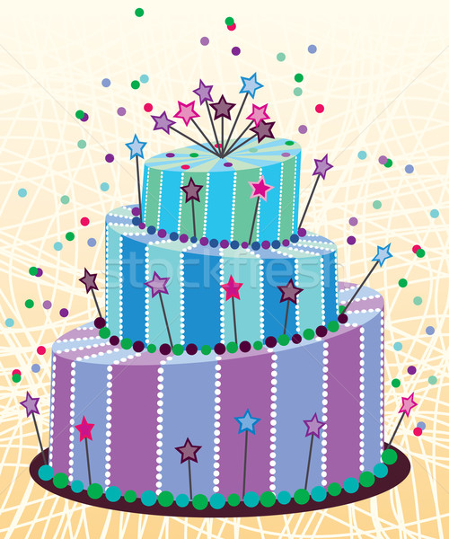 vector big birthday cake Stock photo © freesoulproduction