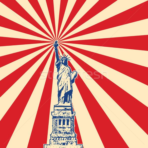 вектора американский символ Нью-Йорк статуя свободы Сток-фото © freesoulproduction