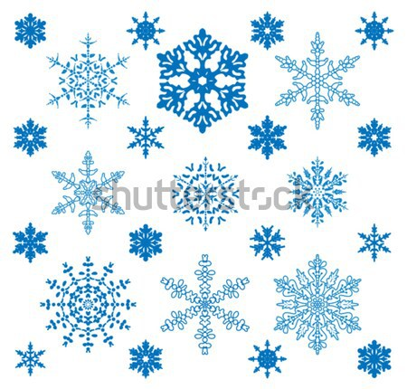Flocons de neige vacances différent design beauté art Photo stock © freesoulproduction