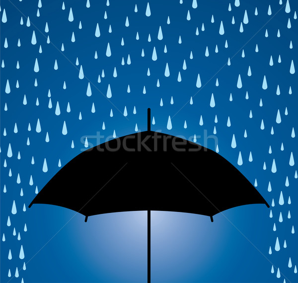 vector umbrella protection from rain drops Stock photo © freesoulproduction