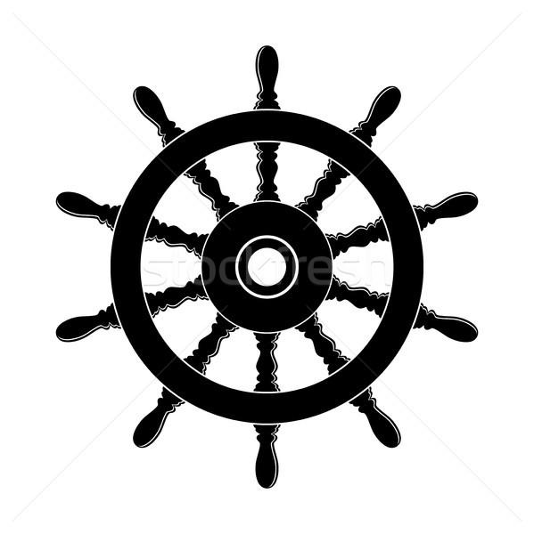 Vector stuur schip boot jacht geïsoleerd Stockfoto © freesoulproduction