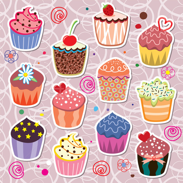 colorful cupcakes Stock photo © freesoulproduction