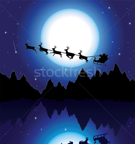 holiday background with santa Stock photo © freesoulproduction