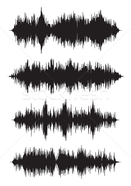 vector music background of audio sound waves pulse Stock photo © freesoulproduction