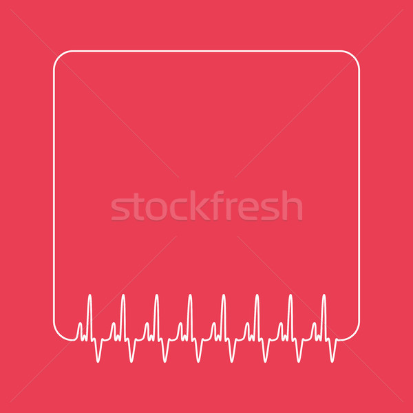 Vector sjabloon cardio citaat teken vak Stockfoto © freesoulproduction