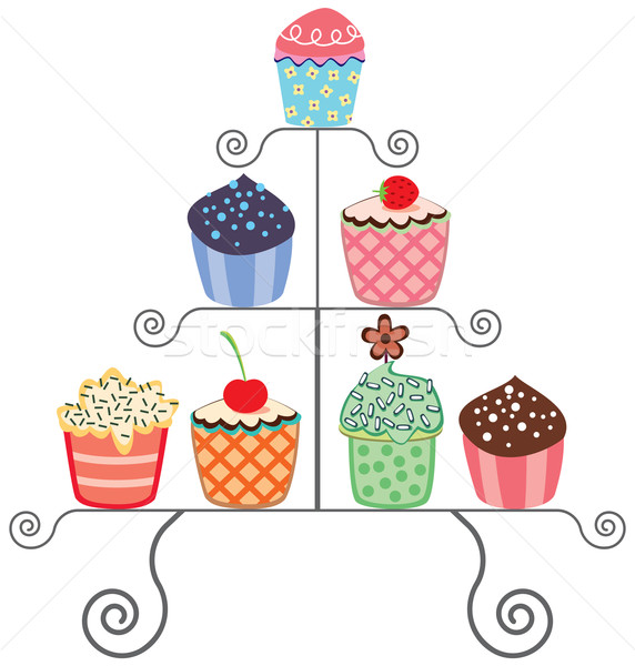 cupcakes on a stand Stock photo © freesoulproduction