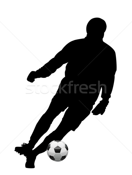vector soccer player  Stock photo © freesoulproduction