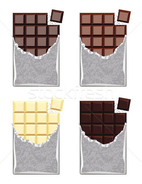 vector collection of  chocolate Stock photo © freesoulproduction