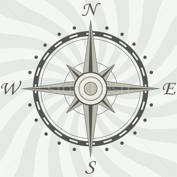 Stockfoto: Vector · vintage · kompas · aarde · teken · reizen