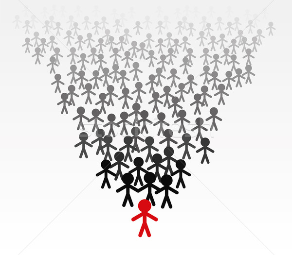 vector business  team of men follow their leader  Stock photo © freesoulproduction