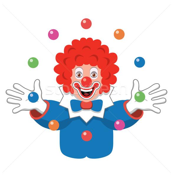 Vektor ikon zsonglőrködés bohóc buli arc Stock fotó © freesoulproduction