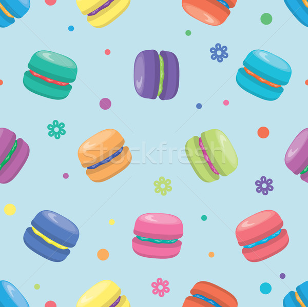 vector macaron seamless pattern Stock photo © freesoulproduction