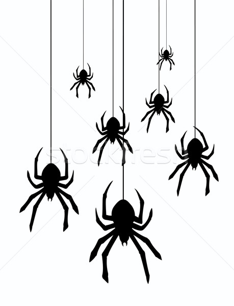 vector hanging spiders Stock photo © freesoulproduction
