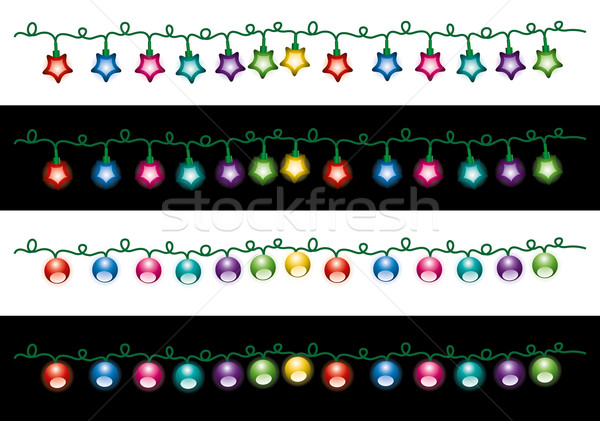 vector  christmas electric light lamps  Stock photo © freesoulproduction