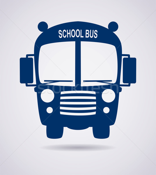 vector school bus icon or symbol  Stock photo © freesoulproduction