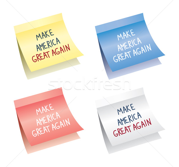 vector paper notes with make america great again words Stock photo © freesoulproduction