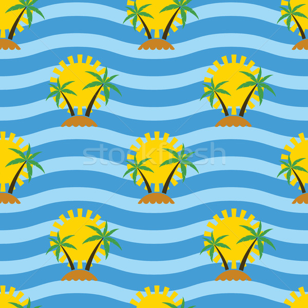 вектора стилизованный бесшовный путешествия тропические Palm Сток-фото © freesoulproduction