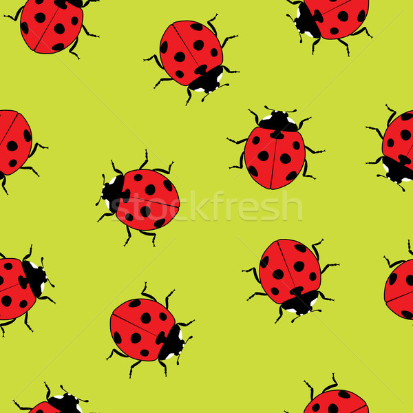 vector ladybug seamless pattern Stock photo © freesoulproduction
