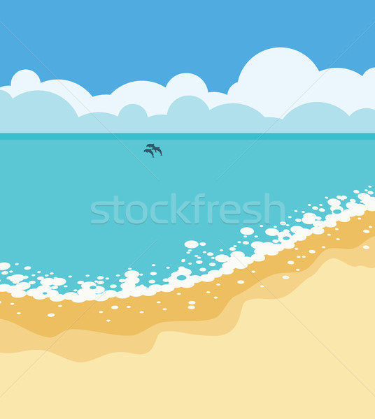 vector summer tropical background with sandy beach Stock photo © freesoulproduction