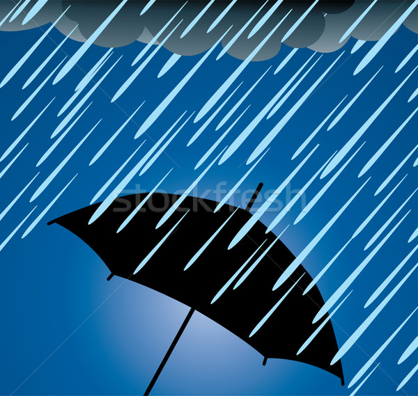 vector umbrella protection from heavy rain Stock photo © freesoulproduction