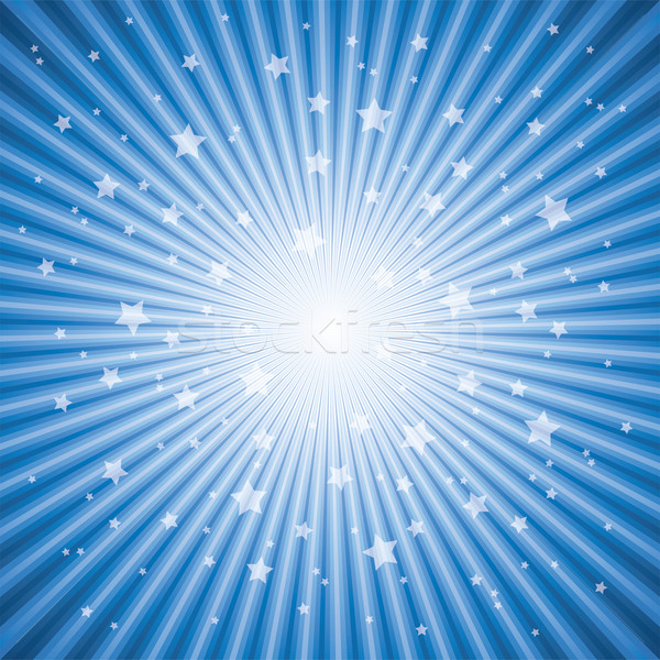 vector abstract background of blue star burst Stock photo © freesoulproduction