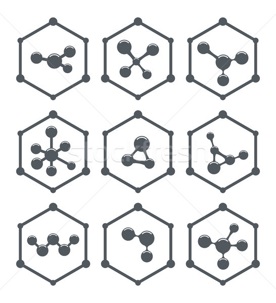 vector abstract molecule icons design Stock photo © freesoulproduction