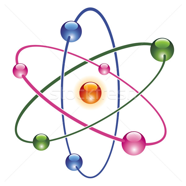 vector abstract atom icon  Stock photo © freesoulproduction